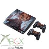 Виниловые наклейки PlayStation 3 Slim (в ассортименте)