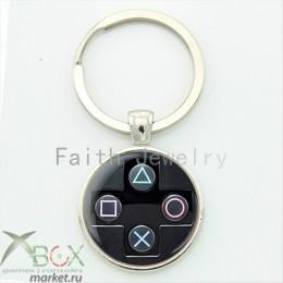 Брелок в виде кнопок джойстика PlayStation