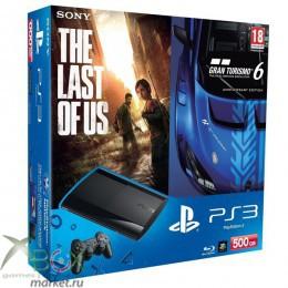 PlayStation 3 Super Slim 500GB + Gran Turismo 6 + Одни из наc