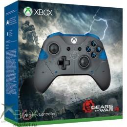 Беспроводной геймпад для Xbox One в раскраске Gears of War 4 с 3.5 мм разъемом и Bluetooth