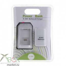 XBox 360 Аккумулятор 4800mAh c USB зарядной станцией