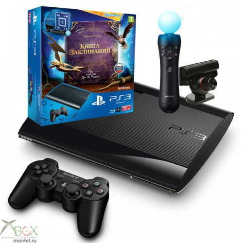 В продаже PlayStation 3 Slim S 12GB + PS Move + камера + WonderBook