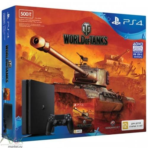 Игровая приставка PlayStation 4 Slim 500GB (РСТ) + World of Tanks